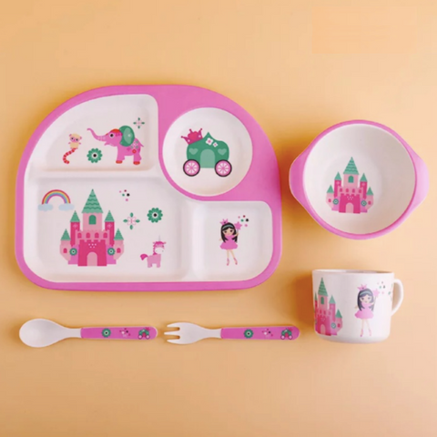 Bamboo Fiber 5pcs Tableware Set - Princess