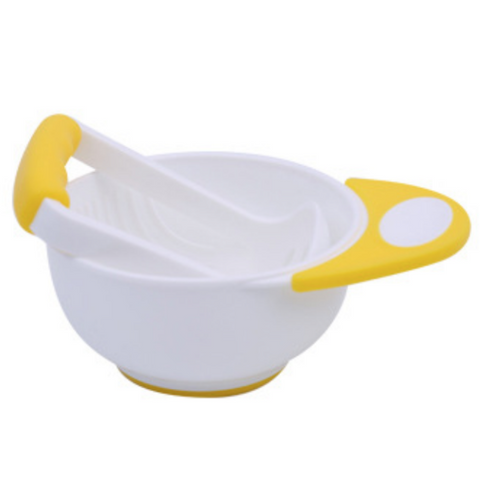 Baby Food Grinder/Masher - White/Yellow