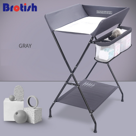 Diaper Changing Station - Grey