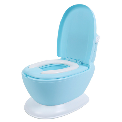 Mini Toilet Potty (Flush Sound) - Blue