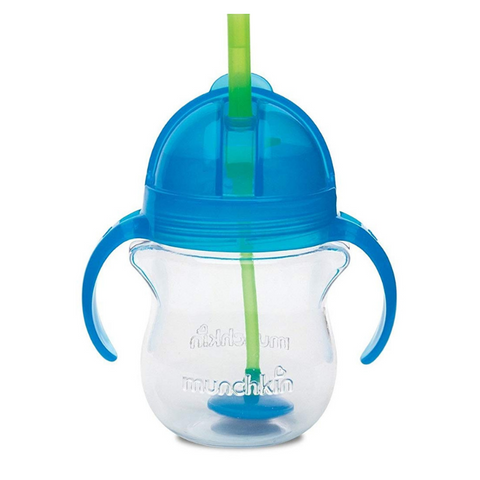 Munchkin Click Lock Tip & Sip Straw Cup - Blue
