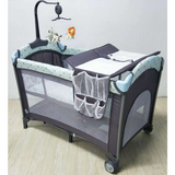 Baby Premium Playpen with Mosquito Net - (Blue)