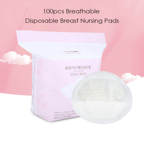 Real Bubee Breathable Disposable Nursing Breast Pads 100s