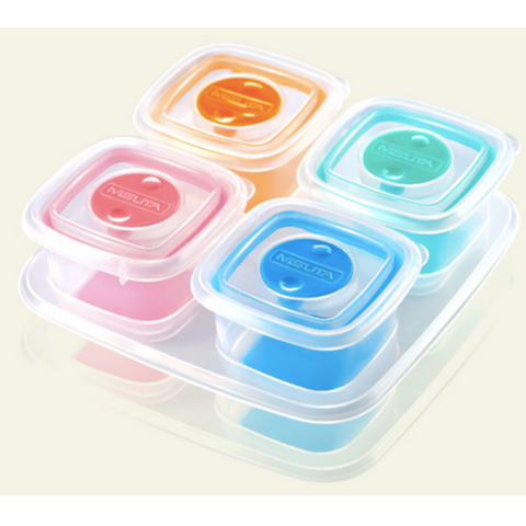 Misuta Baby Food Storage Container Set 4pcs Set