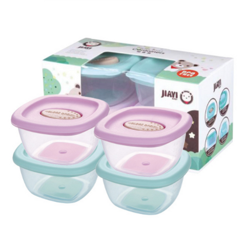 JY Baby Food Storage Container Set 4pcs Set