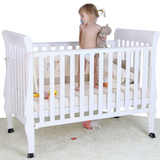 Baby Convertible Cot Cheery + Free Premium Foam Mattress + Free Fitted Mattress Sheet
