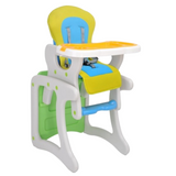 Baby 2 in 1 High Chair - Green/Yellow