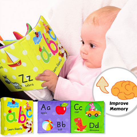 Baby Book Soft Infant Cloth Book Learn Letters with Picture Kids Educational Toy Cloth Book