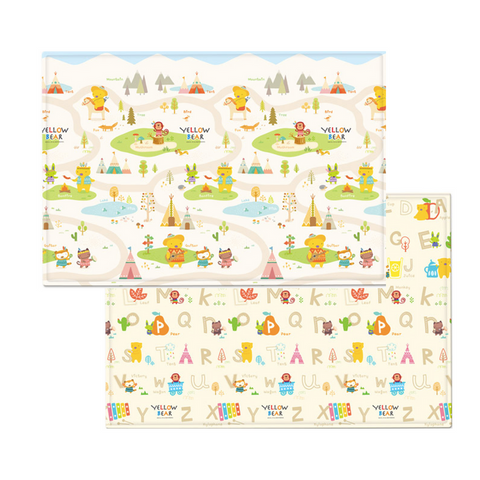 Parklon PURE Play Mat Size L (210) - Yellow Bear ABC