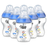 Tommee Tippee Closer to Nature Decorated Bottles 260ml (6 Bottles)