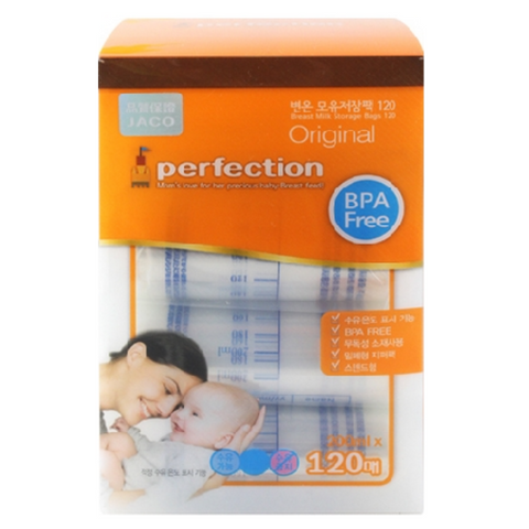 Jaco Perfection Breast Milk Bags 120s