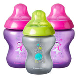 Tommee Tippee Closer to Nature Boldly Go Gift Set 260ml (3 Bottles) - Pink