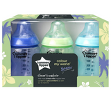 Tommee Tippee Closer to Nature Colour My World 260ml (3 Bottles - Hawaii)