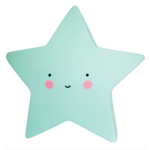 Baby Night Light - Stars (Mint Green)