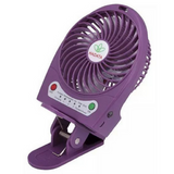 Portable Rechargeable Fan with Clip - Purple