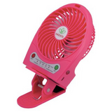 Portable Rechargeable Fan with Clip - Hot Pink