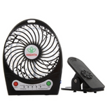 Portable Rechargeable Fan with Clip - Black