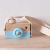 Wooden Toy Camera - Blue
