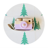 Wooden Toy Camera - Purple