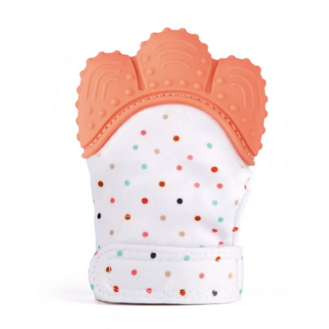 Baby Teething Mitten - Orange