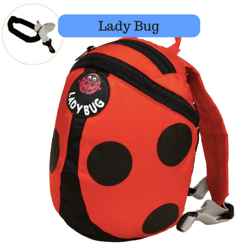 Toddler Backpack with Harness - Lady Bug