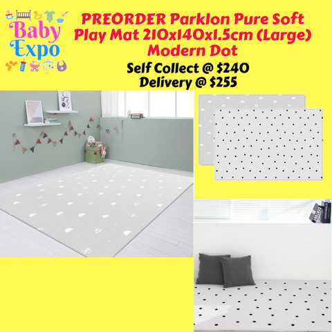 PREORDER ETA 1-15 Oct 2019 - Parklon PURE Play Mat Size L (210) Modern Dot