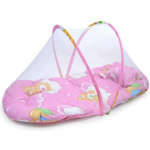 Baby Portable Bed With Mosquito Net And Pillow (SP)