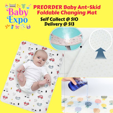 PREORDER ETA 1-15 Sept 2019 - Baby Ant-Skid  Foldable Changing Mat