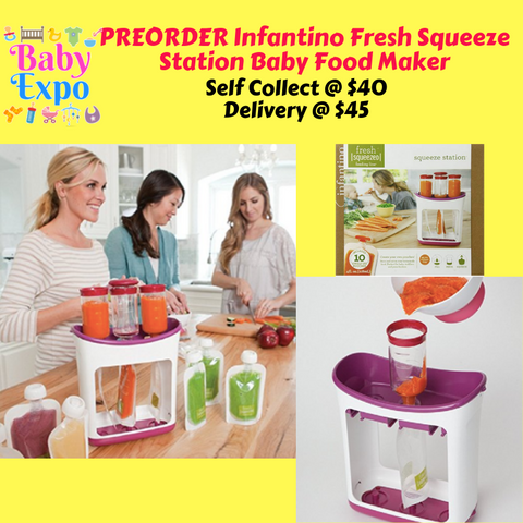 PREORDER ETA 1-15 Jun 2020 - Infantino Fresh Squeeze Station Baby Food Maker