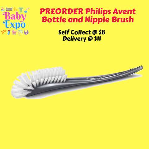 PREORDER ETA 1-15 May 2020 - Philips Avent Bottle & Nipple Brush (Grey)