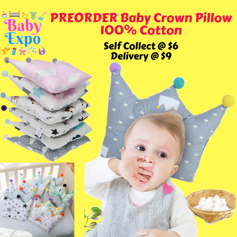 PREORDER Baby Crown Pillow (100% Cotton)
