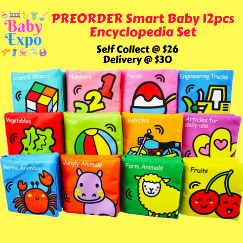 PREORDER ETA 1-15 Dec 2019 - Smart Baby 12pcs Encyclopedia Set