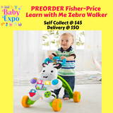 PREORDER ETA 1-15 Jun 2020 - Fisher-Price Learn with Me Zebra Walker