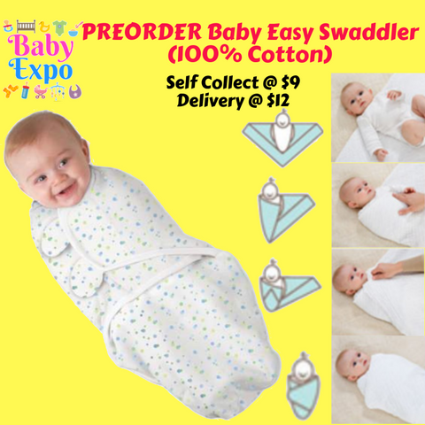 PREORDER Baby Easy Swaddler (100% Cotton)