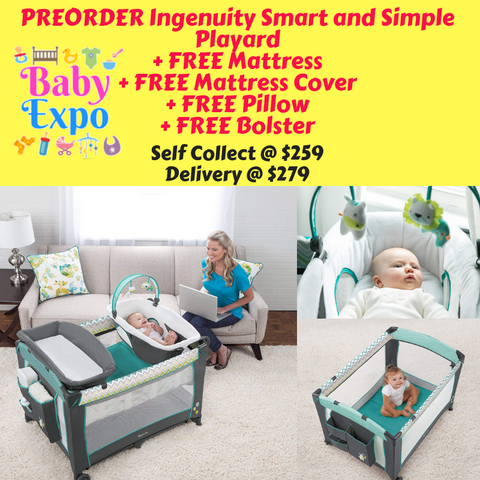 PREORDER ETA 1-15 Jun 2020 - Ingenuity Smart and Simple Playpen (Ridgedale)