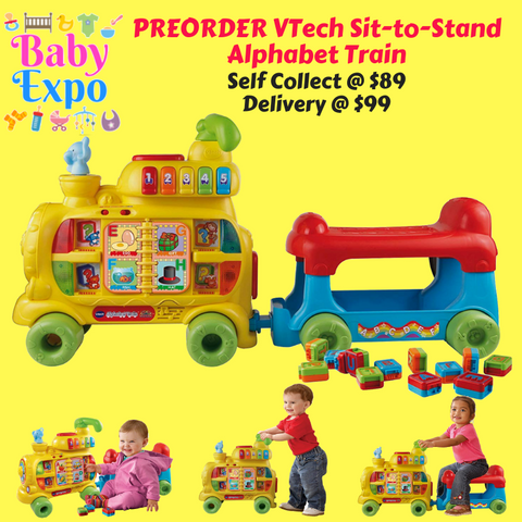 PREORDER VTech Sit-to-Stand Alphabet Train