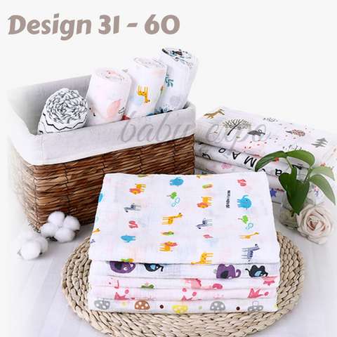 100% Cotton Breathable Baby Muslin Swaddle Cloth Blanket Wrap
