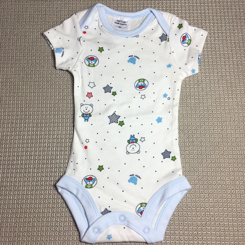 Korea MCC Baby Short Sleeve Romper (Bear & Stars, Blue)