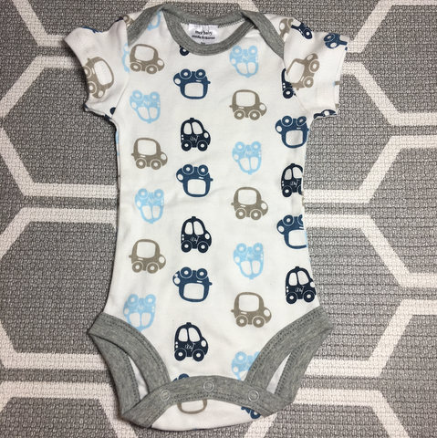 Korea MCC Baby Short Sleeve Romper (Cars, Grey)