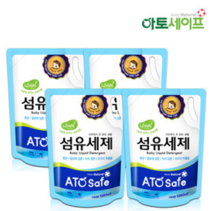 ATO Safe Baby Laundry Detergent 1.3L (Bundle 4 Packs)