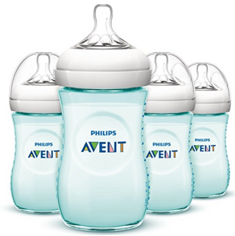 Philips Avent Natural Bottle 260ml Teal (4 Bottles)