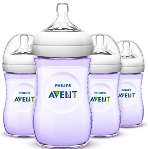 Philips Avent Natural Bottle 260ml Purple (4 Bottles)