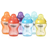 PREORDER Tommee Tippee Closer to Nature Fiesta Fun Time Bottles 260ml (6 Bottles)