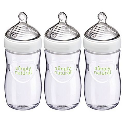 NUK Simply Natural Bottle 270ml (3 Bottles)