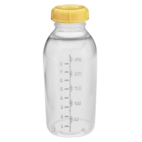 Medela Breastmilk Collection Storage Feeding Bottle with Lid 250ml (1 Bottle) - US Version