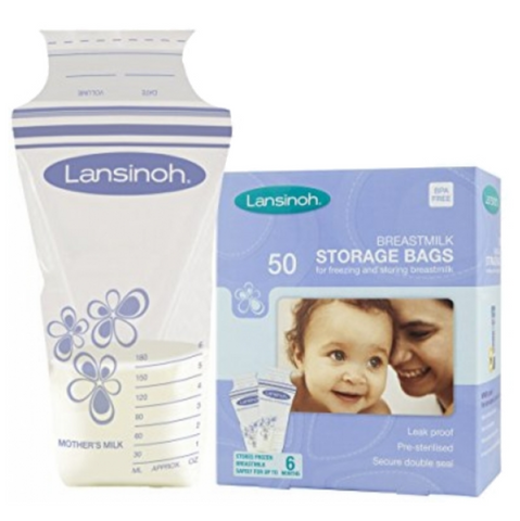 Lansinoh Breastmilk Storage Bags 180ml (50 Bags) - UK Version