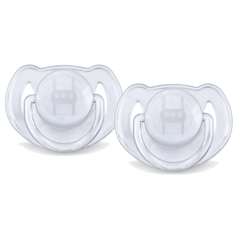 Philips Avent Classic Translucent Pacifiers 2pc (6-18m)