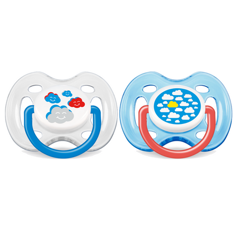 Philips Avent Free Flow Fashion Pacifiers 2pc (0-6m)