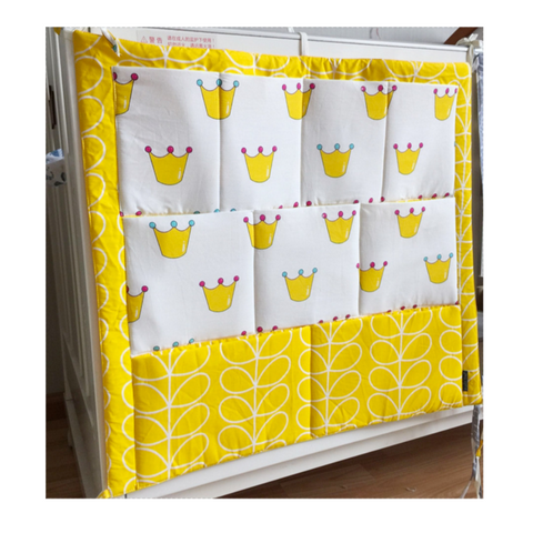 Baby Cot Organiser - Yellow Crown