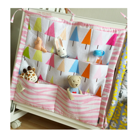 Baby Cot Organiser - Colourful Pines